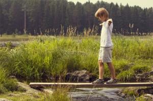 Jongen balancerend